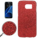 For Galaxy S7 Edge Red Fashionable Flash Powder Back Cover Case