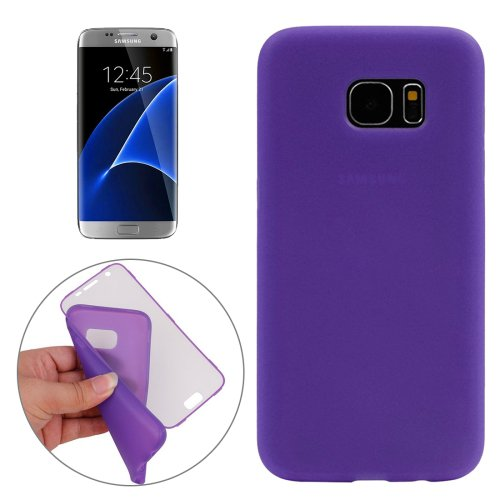 For Galaxy S7 Edge Purple PC Front Cover + TPU Back Cover Protective Case