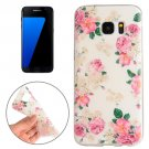 For Galaxy S7 Edge Flowers Pattern TPU Protective Case