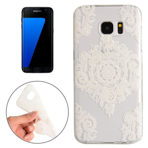 For Galaxy S7 Edge Flower Pattern TPU Protective Case