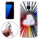 For Galaxy S7 Edge Color Pencil Pattern TPU Protective Case