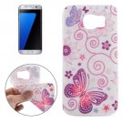 For Galaxy S7 Edge Ultrathin Butterflies Pattern Soft TPU Protective Cover Case