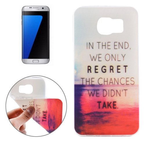 For Galaxy S7 Edge Ultrathin Words Hang Over the Sea Pattern Soft TPU Protective Cover Case