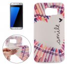 For Galaxy S7 Edge Ultrathin Colour Pen Love Pattern Soft TPU Protective Cover Case