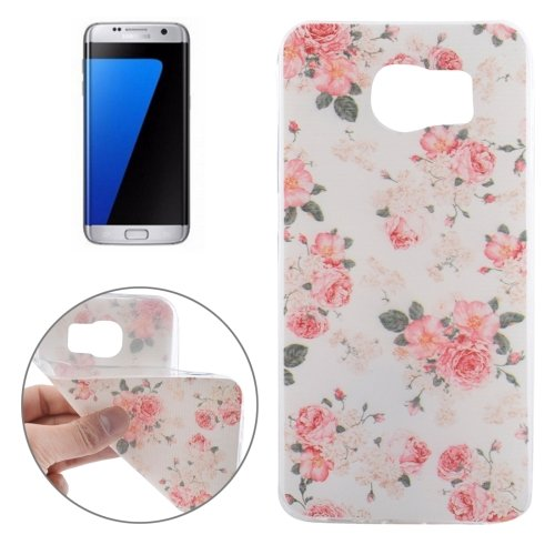 For Galaxy S7 Edge Ultrathin Flowers Pattern Soft TPU Protective Cover Case