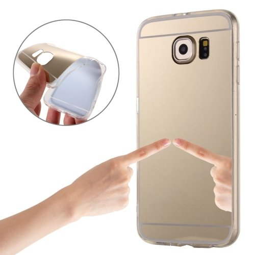 For Galaxy S7 Edge Gold Plating Mirror TPU Protective Case