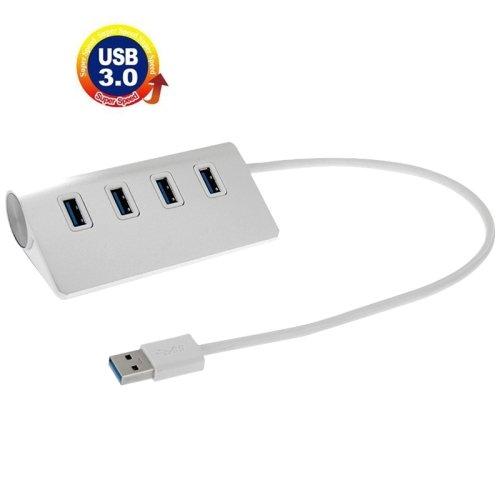 High Speed 5Gbps 4 Ports USB 3.0 HUB Portable Aluminum USB Splitter, Support 2TB