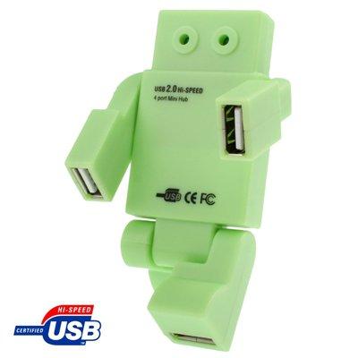 Robot Shape High Performance 4 Port USB 2.0 HUB, Plug and Play