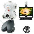 USB 2.0 Cartoon Stain Dog Style 0.48 Mega Pixels Driverless PC Camera / Webcam