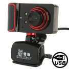 Camera Style 16.0 Mega Pixels USB 2.0 Driverless PC Camera / Webcam with MIC, Cable Length: 1.5m