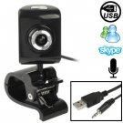 5.0 Mega Pixels USB 2.0 Driverless PC Camera / Webcam with Clip + MIC, Cable Length: 1.1m