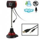 5.0 Mega Pixels USB 2.0 Driverless PC Camera / Webcam with MIC and 4 LED Lights