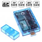 USB2.0 All in 1 Memory Card Reader, Support SD / TF / MS / XD / CF Card and USB Flash Disk