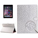 For iPad Air 2 Silver Honeycomb Texture Leather Case with Holder