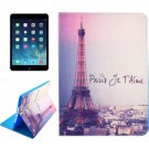 For iPad Air 2 / iPad 6 Tower Pattern Smart Cover Leather Case with Holder & Card Slots