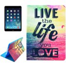For iPad Air 2 / iPad 6 Live Pattern Smart Cover Leather Case with Holder & Card Slots