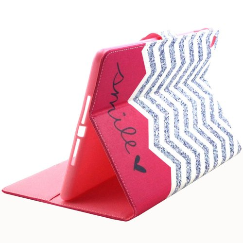 For iPad Air 2/iPad 6 Smile Pattern Flip Leather Case with Holde,& Card Slots & Wallet