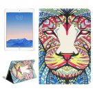 For iPad Air 2/iPad 6 Lion Pattern Leather Case with Holder & Card Slots & Wallet