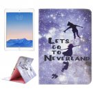 For iPad Air 2/iPad 6 Neverland Pattern Leather Case with Holder & Card Slots & Wallet