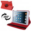For iPad Mini 1/2/3 Red 360° Rotatable Litchi Texture Leather Case with Holder