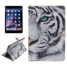 For iPad Mini 1/2/3 Tiger Pattern Leather Case with Holder, Card Slots & Wallet
