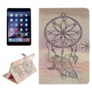 For iPad Mini 1/2/3 Windbell Pattern Leather Case with Holder, Card Slots & Wallet