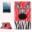 For iPad Mini 1/2/3 Zebra Pattern Horizontal Flip Leather Case with Holder