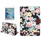 For iPad Mini 4 Peony Denim Texture Leather Case with Card Slots, Holder & Wallet