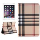 For iPad Mini 4 Yellow Grid Texture Horizontal Flip Smart Leather Case with Holder