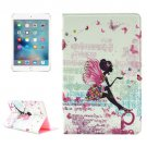 For iPad Mini 4 Fairy Pattern Diamond Encrusted Flip Leather Case with Holder