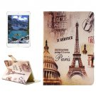 For iPad Mini 4 Eiffel Tower Pattern Horizontal Flip Leather Case with Holder