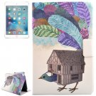 For iPad Mini 4 Bird House Pattern Flip PC + PU Leather Case with Holder & Card Slots