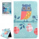 For iPad Mini 4 Owl Drawing Pattern Flip PC + PU Leather Case with Holder & Card Slots