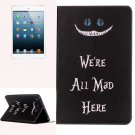 For iPad Mini 1/2/3 Words Pattern Horizontal Flip Leather Case with Holder
