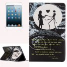 For iPad Mini 1/2/3 Couple Pattern Horizontal Flip Leather Case with Holder