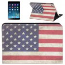 For iPad Mini 1/2/3 Retro USA Flag Style Leather Case with Holder