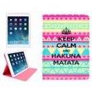 For iPad Mini 1/2/3 KEEP CALM Pattern Protective PU Smart Cover Leather Case with Card Slot