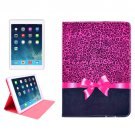 For iPad Mini 1/2/3 Bowknot Pattern Protective PU Smart Cover Leather Case with Card Slot