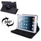 For iPad Mini 1/2/3 Black 360° Rotatable Litchi Texture Leather Case with Holder