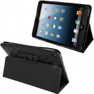 For iPad Mini 1/2/3 Black Plaid Texture Soft Leather Case with Holder & Sleep / Wake-up Function