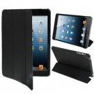 For iPad Mini 1/2/3 Black 3-fold Smart Cover PU Leather Case