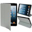 For iPad Mini 1/2/3 Grey 3-fold Smart Cover PU Leather Case