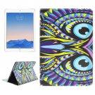 For iPad Air 2/iPad 6 Owl Pattern Leather Case with Holder & Card Slots & Wallet