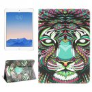 For iPad Air 2/iPad 6 Tiger Pattern Leather Case with Holder & Card Slots & Wallet