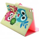 For iPad Air 2/iPad 6 Owl Pattern Horizontal Flip Smart Cover with Holder, Card Slots & Wallet