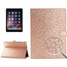 For iPad Air 2 Gold Honeycomb Texture Leather Case with Holder