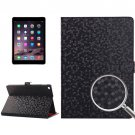 For iPad Air 2 Black Honeycomb Texture Leather Case with Holder