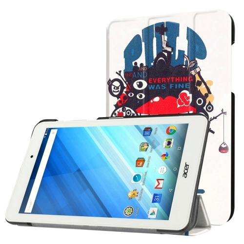 For Acer Iconia One 8 Fine Pattern Leather Case with 3 fold Holder