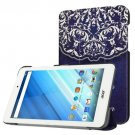 For Acer Iconia One 8 Vintage Pattern Leather Case with 3 fold Holder