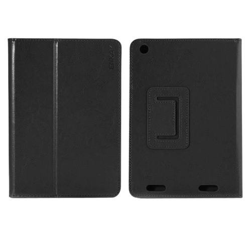 For Acer Iconia A1-830 Black ENKAY Crazy Horse Leather Case with Holder
